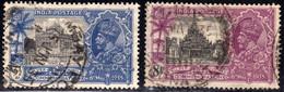 India 1935 3 1/2a & 8a SG245-6 - Fine Used - 1911-35 King George V