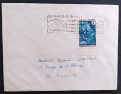 N° 1620 - 0.40 + 0.15 Croix Rouge - L'hiver / AIX LES BAINS 30.12.1969 >>> FONTAINE - 1961-....