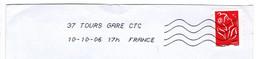 OMEC Toshiba Indre Et Loire 37 TOURS GARE CTC 10 10 2006 - Mechanical Postmarks (Advertisement)