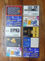 10 Télécartes Prévention (Face à La Drogue, Préservatifs Contre Le Sida, Contre Le Tabac, Aspirine, Etc)  FRANCE TELECOM - Collezioni