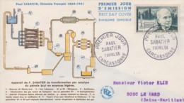 Enveloppe  FDC  1er  Jour   FRANCE   Paul   SABATIER   CARCASSONNE  1956 - 1950-1959