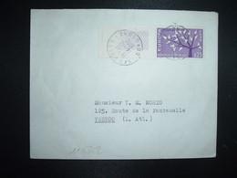 LETTRE TP YT 1358 EUROPA 0,25 Bord De Feuille OBL.14-12 1962 SIGOULES DORDOGNE (24) - 1961-....
