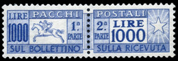 ITALIA. Paquetes Postales ** 67. 1000 Liras. Muy Raro. Centraje De Lujo. Cat. Sassone 6000 €. Cat. 1440 €. - Paketmarken