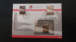 Émission Commune: Exposition à Bruges De La Collection Philatélique De S.A.S. Le Prince Albert II De Monaco ( Belgique ) - Souvenir Cards