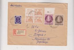 GERMANY RADOLFZELL 1952 Nice Registered Cover To Yugoslavia - Cartas