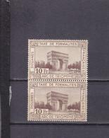 FRANCE FISCAL REVENUE TAXE DE DOUANE PAIRE RARE NEUF SANS CHARNIERE ADHERENCES - Revenue Stamps