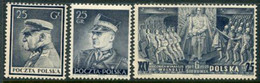 POLAND 1939  Polish Legion Singles Ex Block.MNH / **.  Michel 357-59 - Nuovi