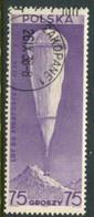 POLAND 1938 Stratosphere Balloon Flight Single Ex Block Used.  Michel 329 - Usati