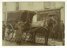 Carte Représentant Un Attelage Devant Une Bourrellerie Sellerie - Mercanti