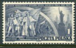 POLAND 1938 Constitution Of USA MNH / **  Michel 326 - Unused Stamps