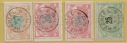 AA-1994 HECHTEL Sterstempel    Spoor 18-33-35-35 - 1895-1913