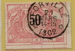 AA-1995 FORVILLE    Sterstempel    Spoor 21 - 1895-1913