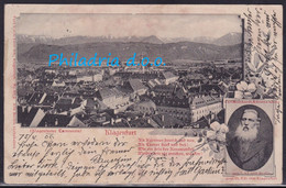 Klagenfurt, Carl Meinhardt, Stamp With Perfin, Mailed 1906 - Klagenfurt