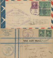 CUBA. Lote De 7 Cartas Años 20/50. Destacan Correos Aéreos. Incluye Una De Zona Del Canal Y Otra De Sudáfrica. - Luftpost