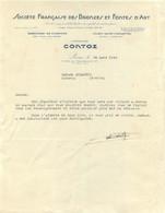 SOCIETE FRANCAISE DES BRONZES ET FONTES D'ART CONTOZ 1943 COURRIER ENVOYE A LUZANCY - 1900 – 1949