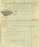 COMPAGNIE FRANCAISE DES CONDUITES D'EAU  RUE DE LOURMEL PARIS 11/1934 FACTURE - 1900 – 1949