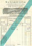 GRANDS MAGASINS DE LA SAMARITAINE  FACTURE  DE LA MAISON ERNEST COGNACQ - 1900 – 1949