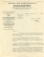 SOCIETE DES ETABLISSEMENTS DUCRETET PARIS 03/1936 - 1900 – 1949