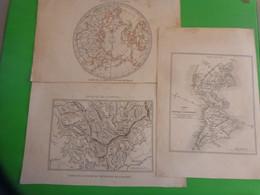 Carte De La Region Polaire-carte Du Nouveau Continent - Chaine De La Montagne De Langres Etc... - World