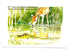 --illustrateur .DEBOURG Dominique---...BETHONCOURT--26  Février  2017..--22e Salon Du Collec....à Saisir - Otros Municipios