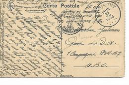 REF4654/ CP-PK Ruines De Dixmude En SMB C.Thourout 25/7/1923 > Militaire Genie 4 D.a. 1 Cie SMB 7 A.B.O. - Correo Militar