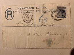 Lettre Registered Letter Victoria 1883 Five Pence Rare - Gebruikt