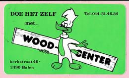 Sticker - DOE HET ZELF Met WOOD-CENTER - Kerkstraat BALEN - Autocollants