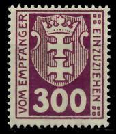 DANZIG PORTOMARKEN Nr 17Y Postfrisch X896412 - Danzig