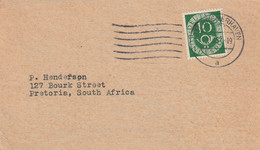 Germany Postcard South Africa  - (1951) - Interesting Advertising BremerHaven Numeral And Posthorn - Lettres & Documents