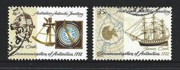 Australian Antarctic Territory AAT 1972 Captain Cook Set Of 2 FU Cds - Used Stamps