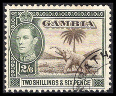 Gambia 1938-6 2s6d Sepia And Dull Green Fine Used. - Gambia (...-1964)