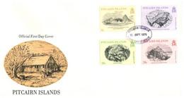 (11 20) Pitcairn Island - FDC - 1979 & 1987 (2 Covers) Island Houses - Pitcairninsel