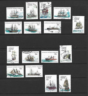 Australian Antarctic Territory AAT 1979 Ship Definitives Set Of 16 FU Cds - Used Stamps