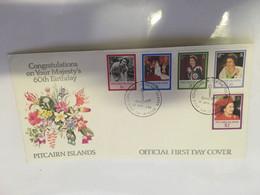 (11 20) Pitcairn Island - FDC  (1 Cover) Queen Elizabeth 60th Birthday - Pitcairninsel