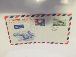 (11 20) Pitcairn Island - FDC (1 Cover) 1987 - R.N.Z.A.F Air Drop - Tortoise - Sail Ship - Pitcairninsel