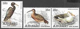 Aitutaki Cook Islands  1981   Sc#230 12c, & #232a 15c Birds Pair   MNH   2016 Scott Value $3.75 - Cranes And Other Gruiformes