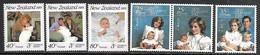 NZ  1985 Sc#B121-3 & 1989  Sc#B134-6 Royals Sets MNH  2016 Scott Value $6.40 - Unused Stamps