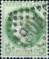 France - Yv.53 5c Cérès Dentelé Obl. GC 1805 (Honfleur) - TB - 1870 Siege Of Paris