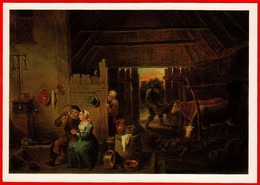 30287 Teniers The Peasant House Cow Beer Wine Alcohol Pen Will Please The Chicken Pan Pitcher Pot Barrel 1988 Alcohol - Koeien