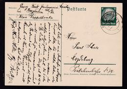 """Hindenburg 6 Pfg. Mit Aufdruck """"Elsaß"""" Ab Bergheim (Els)7.12.?? Nach Magdeburg - Occupation 1938-45"""