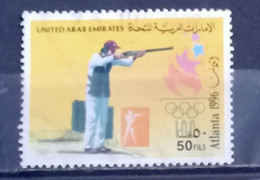 UAE - 1996- Olympic Games ( Rifle Shooting ) - Used. (D) Condition As Per Scan - United Arab Emirates (General)