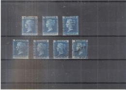 GB -  7x Yv.27 - (Tout Les N° De Planche 7-8-9-12-13-14-15) - (à Voir) - Used Stamps