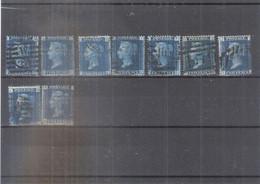 GB -  9x Yv.27 - Planche 13 - Beau Matériel Pour Reconstitution De Feuille - (à Voir) - Used Stamps