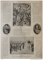 Japon, Les Noces D'argent Du Mikado - L'Empereur - L'Impératrice - Page Original 1894 - Historische Documenten