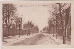 NORD - LOOS - Boulevard De La République  ( - Episode Neigeux ) - Loos Les Lille