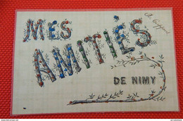 NIMY  -  Mes Amitiés  De Nimy  ( Carte Perlée) - Mons