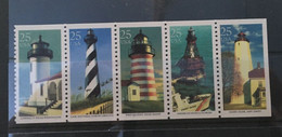(stamp 18-7-2021) USA (5 Mint Stamps) Lighthouses - Lighthouses