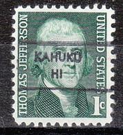 USA Precancel Vorausentwertung Preo, Locals Hawaii, Kahuku L-1 HS - Precancels