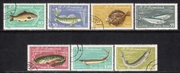 Romania 1960 Mi# 1927-1933 Used - Fish - Oblitérés