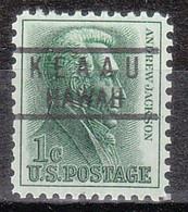 USA Precancel Vorausentwertung Preo, Locals Hawaii, Keaau 818 - Precancels